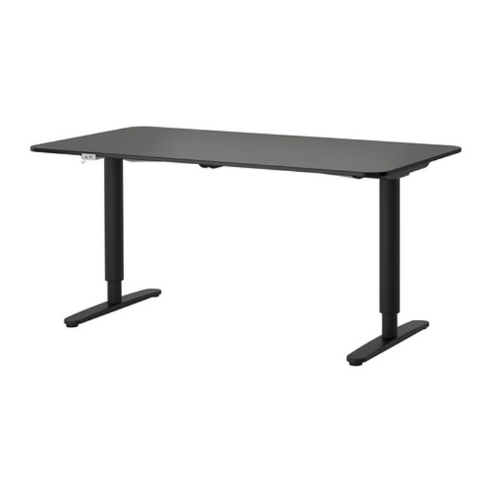 Bekant desk sit stand black brown black  0252682 pe391416 s4