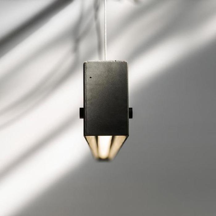 Yi concrete linear pendant light 2 grande