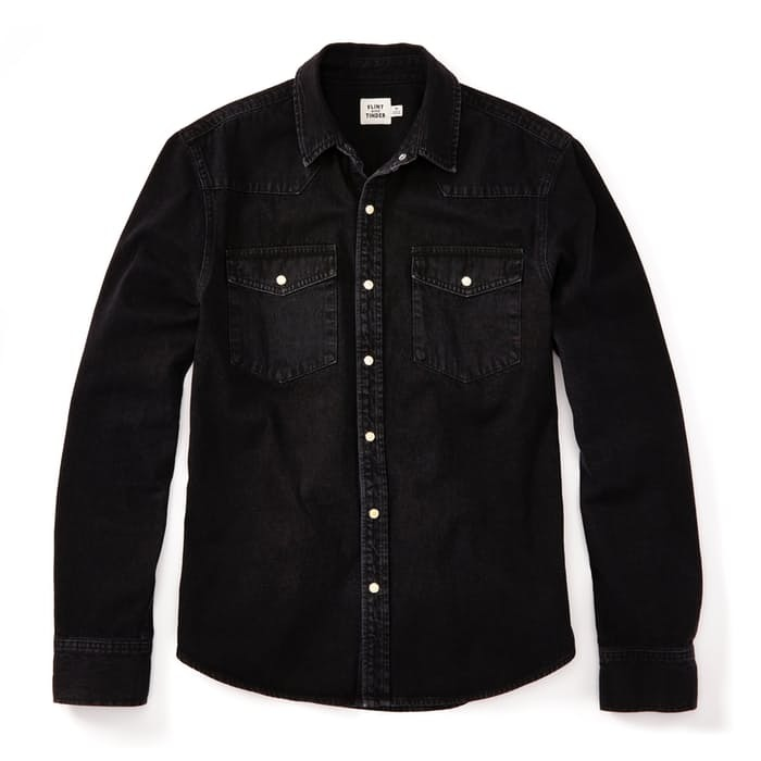 Ucrit06faf flint and tinder bone button western shirt 0 original