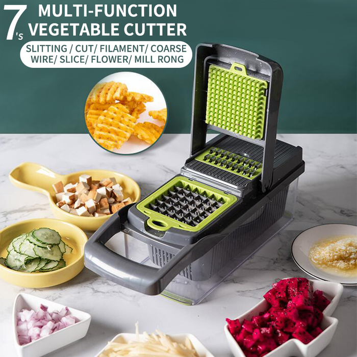 Vegetable fruit slicer grater cutter peeler multifunctional grater drain basket kitchen chopper slicer with large container