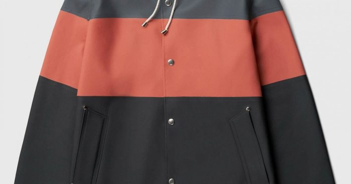 Stutterheim aw20 unisex raincoat stockholm stripe charcoal front.jpg 1200x630