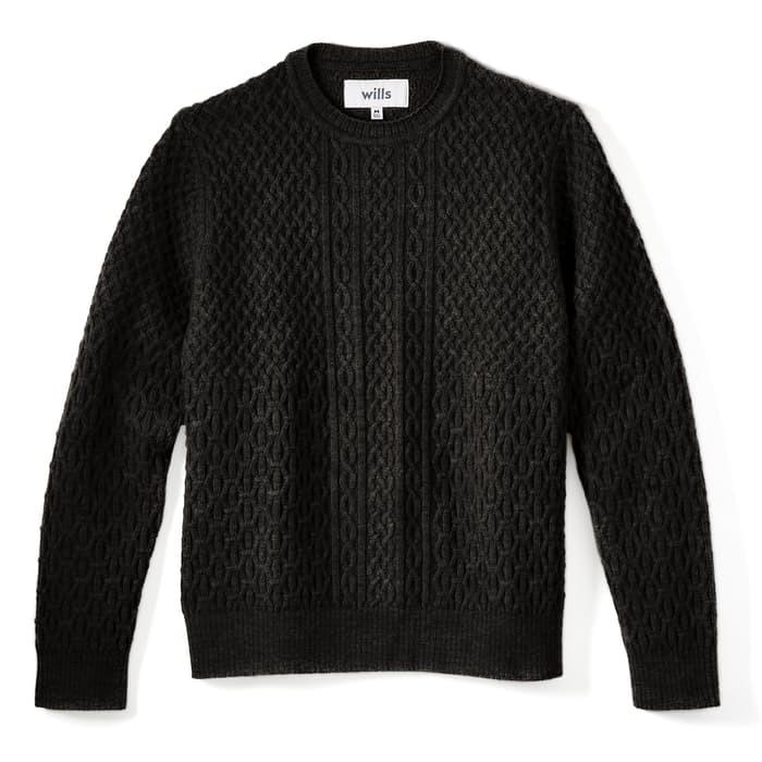 Apbqpkbueh wills cable knit wool sweater fisherman sweaters 0 original