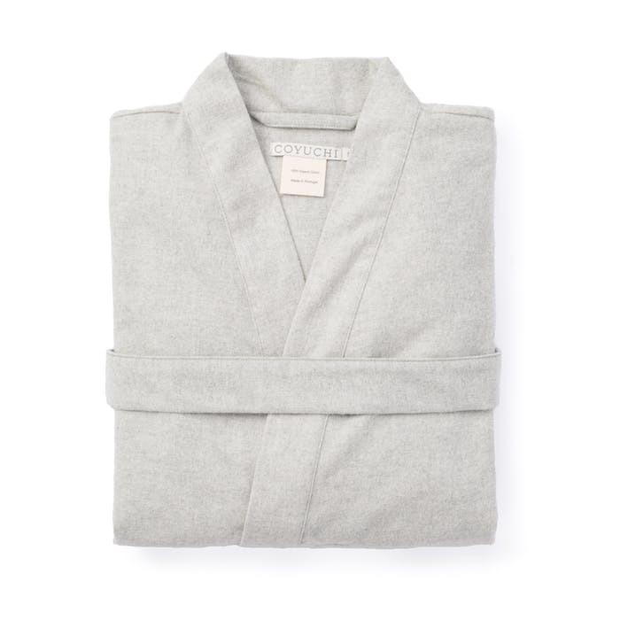 Trfttuyena coyuchi unisex flannel robe 0 original