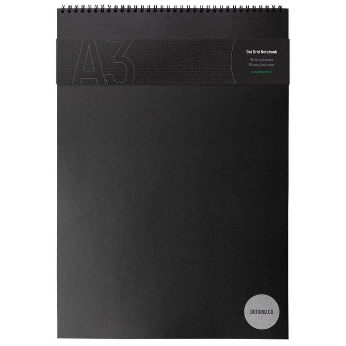 Dot grid notebook a3 black   wbg 1200x1200