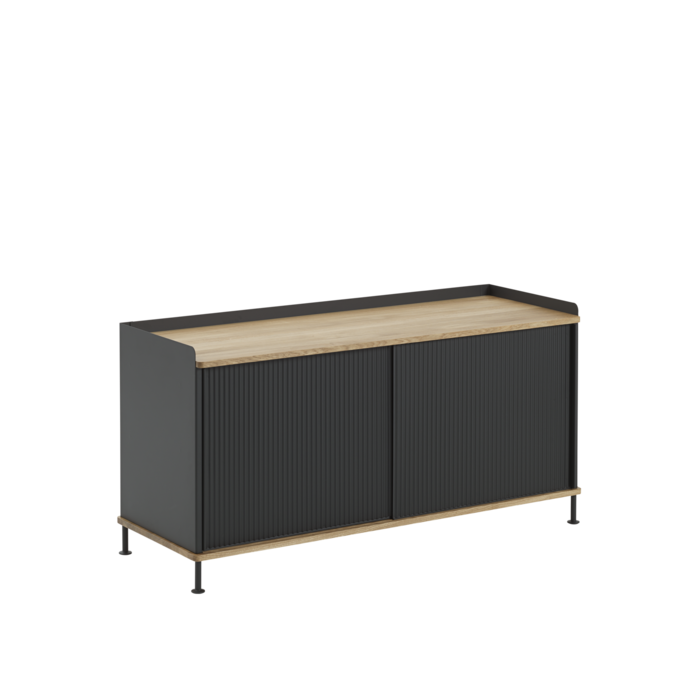 1430 enfold sideboard low oak black packshot