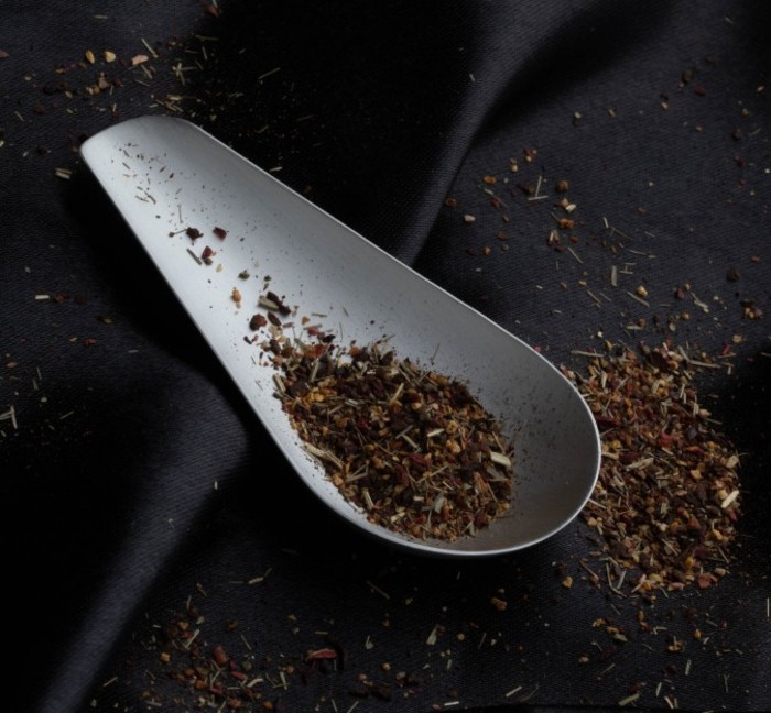 Copper tin tea scoop