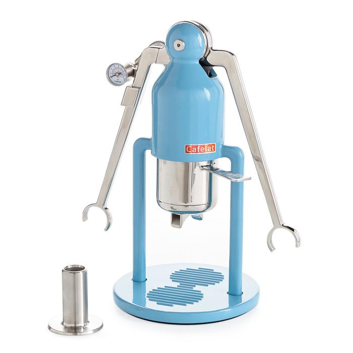 Cafelat robot barista manual espresso machine wbg blue front  69360.1605900669