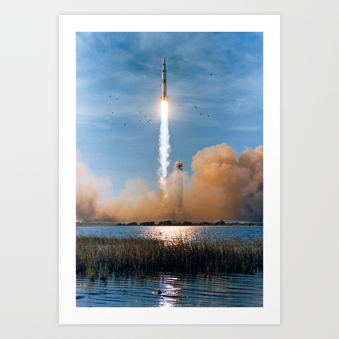 Apollo 8 saturn v liftoff prints