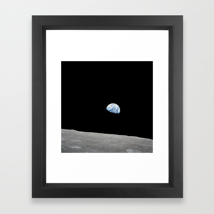 Apollo 8 iconic earthrise photograph framed prints