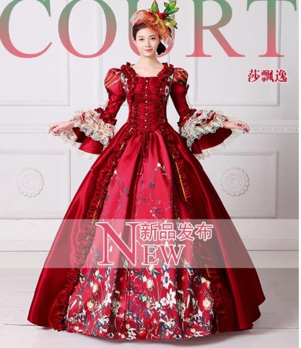 Halloween costumes for women Queen Elizabeth Cosplay edwardian dress ...