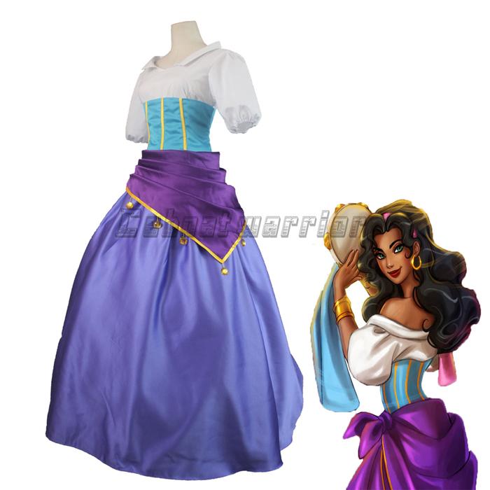 Costume Halloween Esmeralda.The Hunchback Of Notre Dame Movie Esmeralda Dress Halloween Carnival