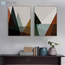 Thumb abstract minimalist landscape mountain sea a4 art print poster wall pictures living room canvas painting retro