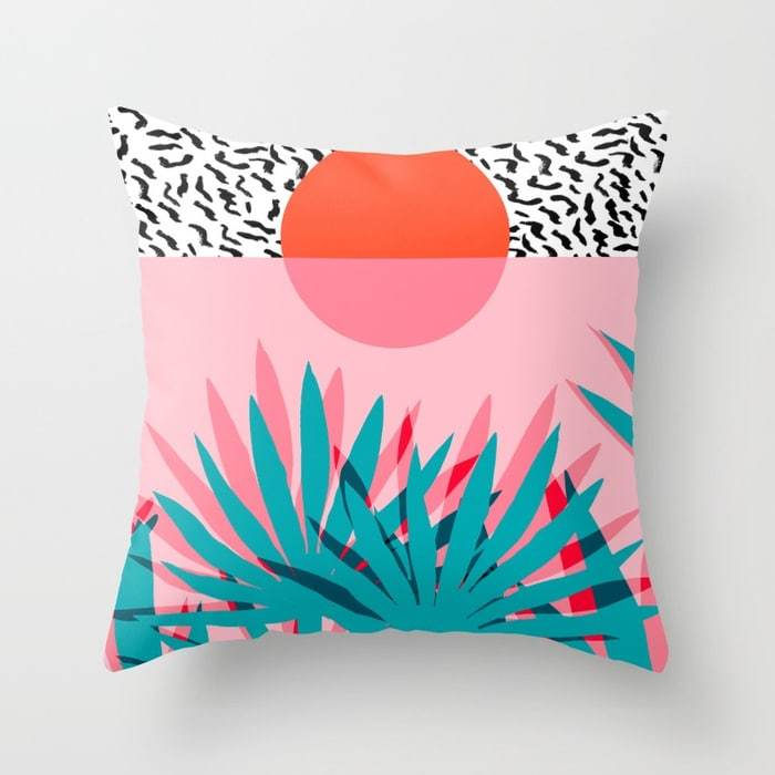 Whoa palm sunrise southwest california palm beach sun city los angeles retro palm springs resort pillows
