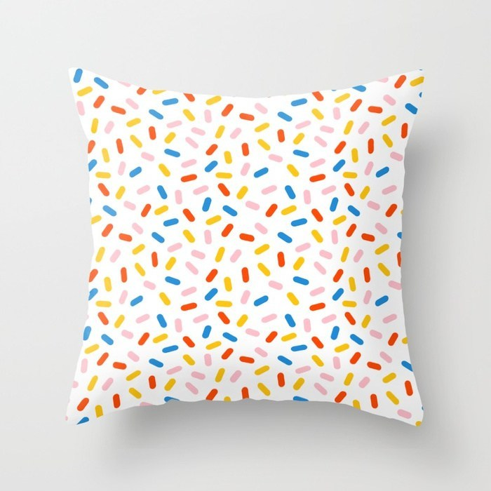 Livin it abstract pattern minimal modern primary colors pantone gender neutral retro throwback pillows