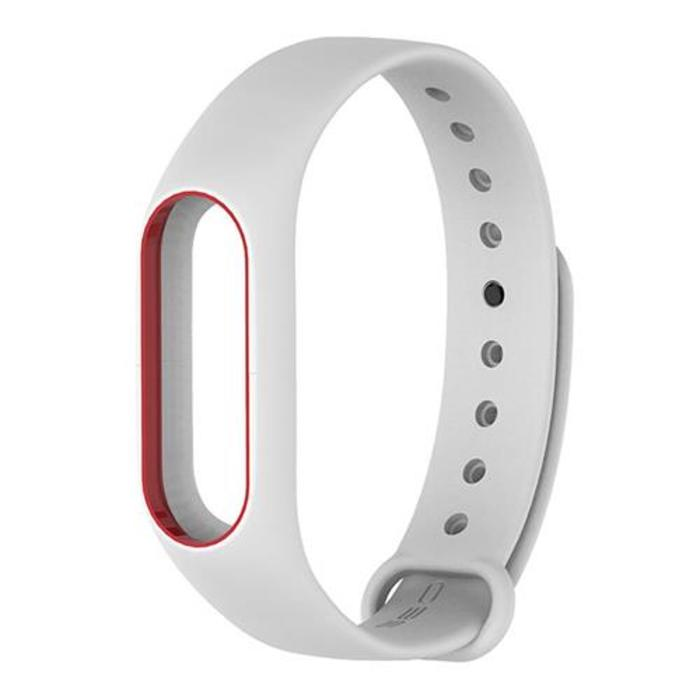 Xiaomi miband 2 replacement silicon strap band white red 421672