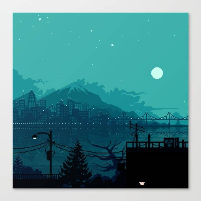 Dark harbor canvas