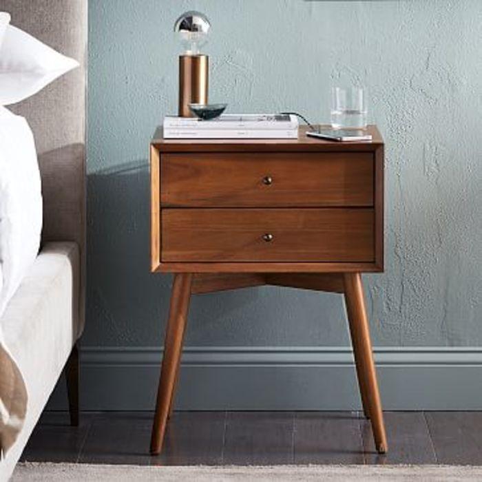 Mid century nightstand acorn m