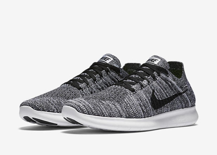 Nike Mens Free RN Flyknit 2017, BLACK/WHITE-VOLT, 7.5 M US. Category. Shoes