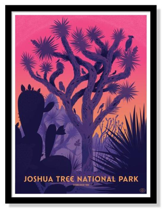 Fifty nine parks print series joshua tree national park poster by little friends of printmaking c35fd534 b779 4a8b 9ecc 34e74a3db679 grande