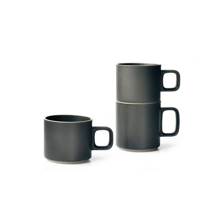 Black hasami porcelain mugs trnk