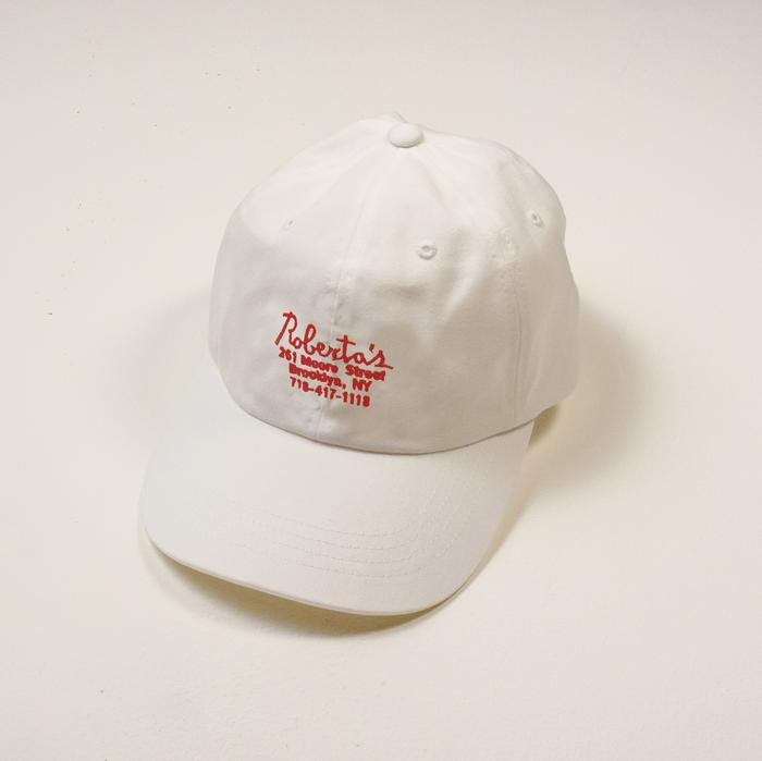 Robertas hat white logo 1200x1200