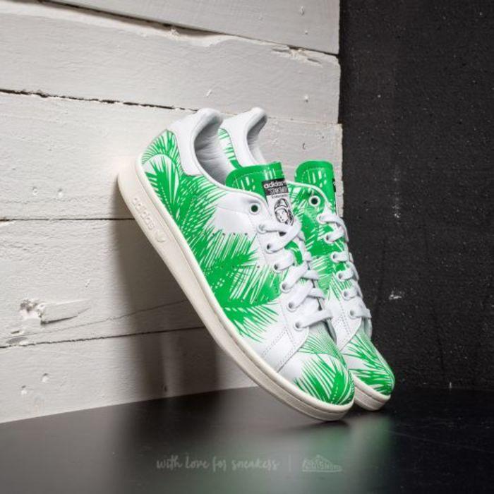 Adidas pharrell williams stan smith bbc palm ftwwhite viv green off white