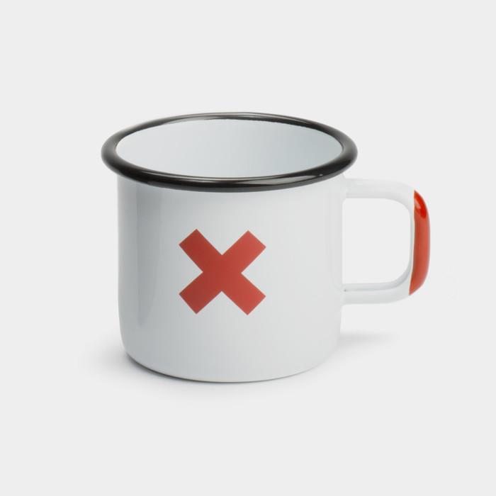 Enamel cup white front gw zhtdwv