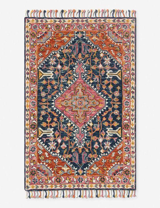 Ede rug orange and pink 1564991625