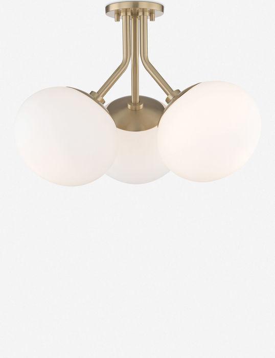 Ainsley semi flush light aged brass 1564991625