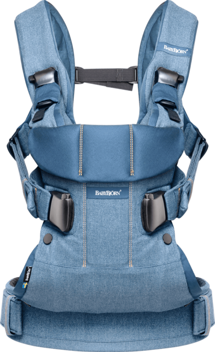Baby carrier one classic denim midnight blue cotton mix 093051 babybjorn 01