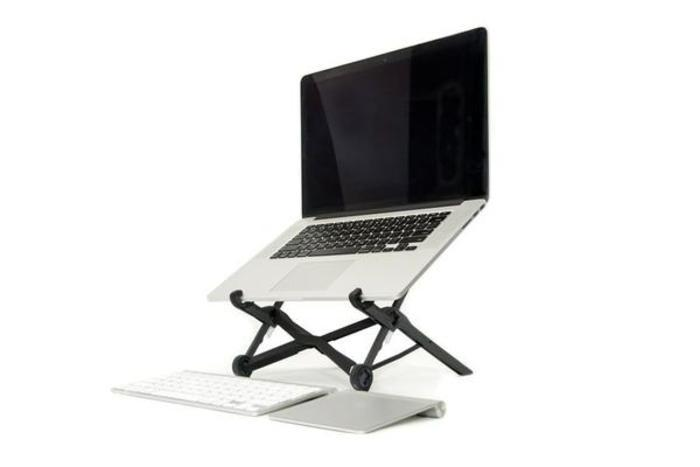Roost laptop stand riser   portable   lightweight  adjustable travel top grande