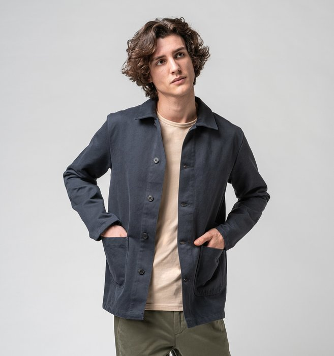 Isto work jacket dark grey 01