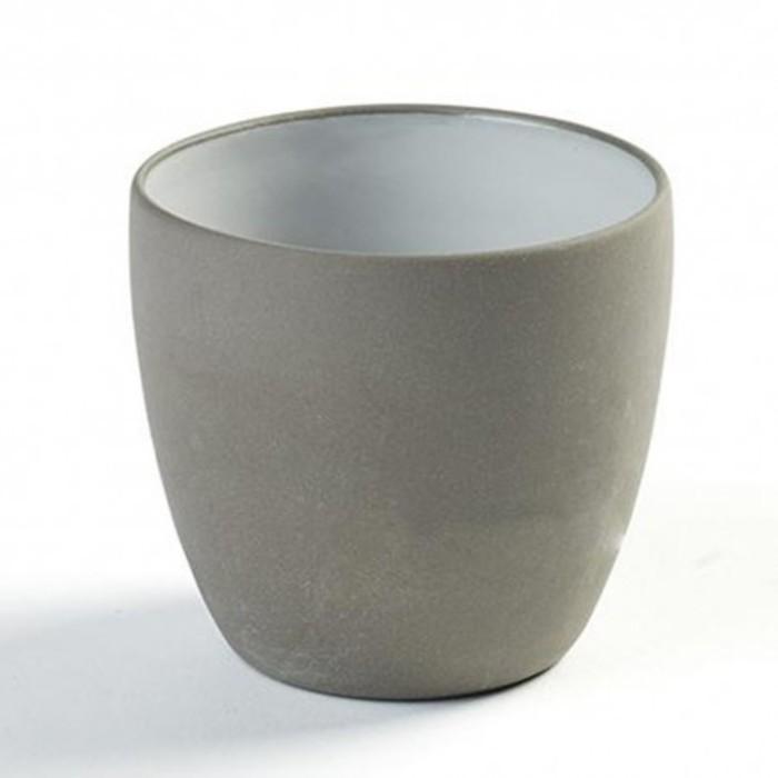 Gobelet espresso 17cl en porcelaine blanc gris anthracite dusk de martine keirsebilck pour serax